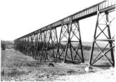 Alberta Central Railway steel trestle across Red Deer River